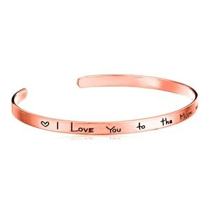 I Love You To The Moon & Back Bracelet Rose Gold